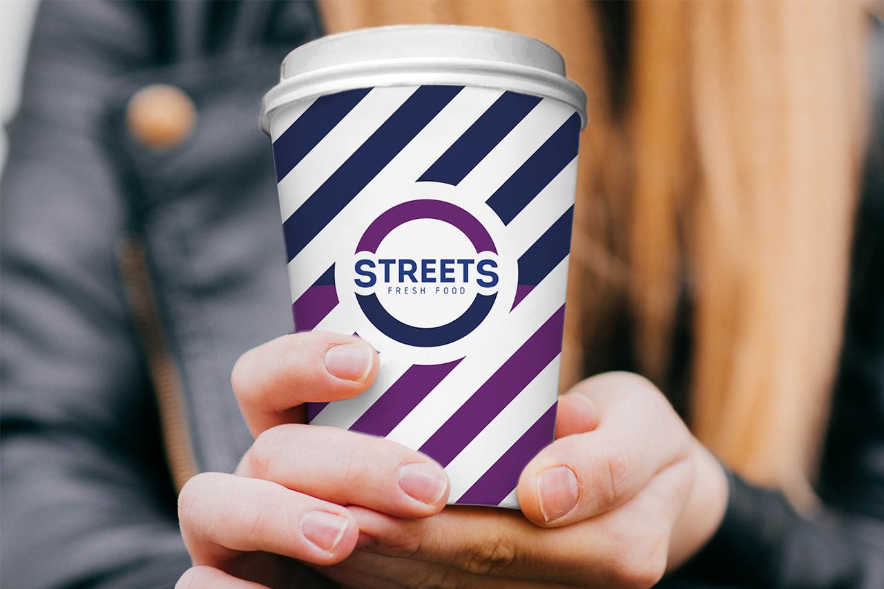 Айдентика - брендированный стакан для напитков Streets