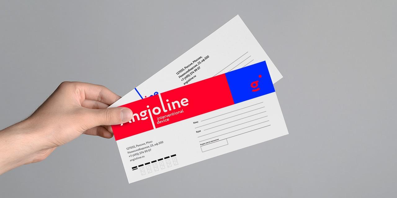 Конверты с логотипом Ангиолайн