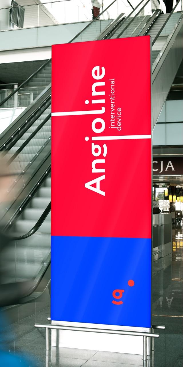 Ролл ап с логотипом Ангиолайн