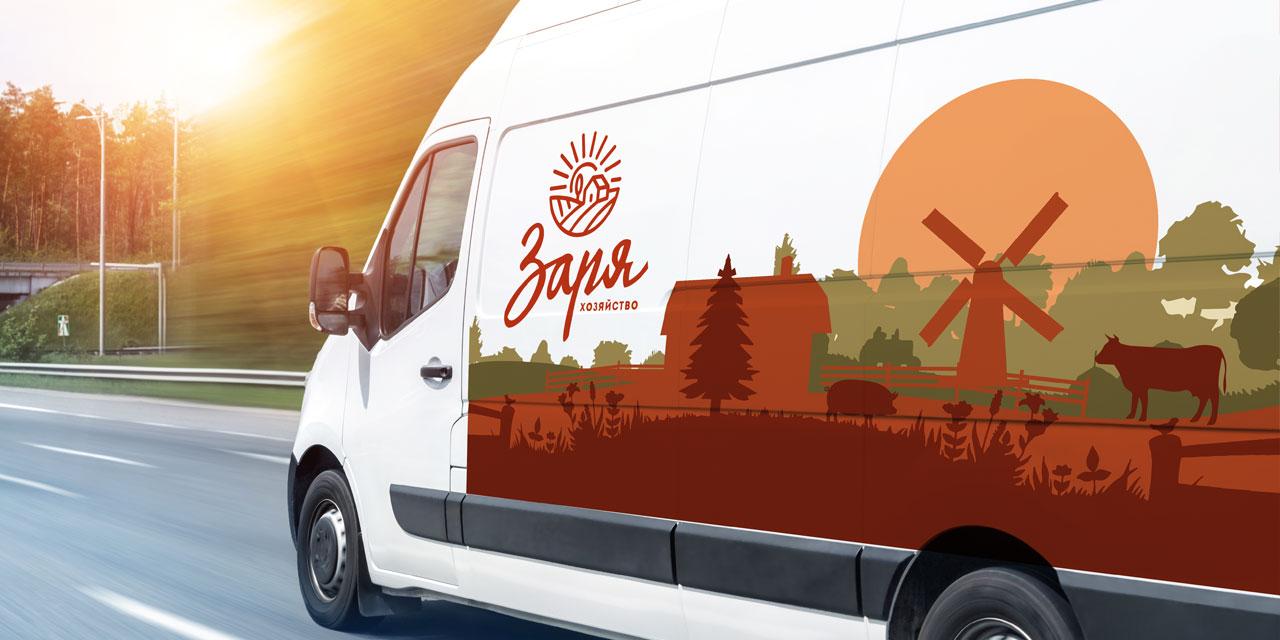 Визуальная среда бренда Заря на транспорте